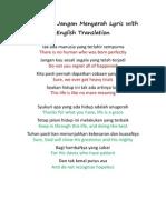 Jangan Menyerah Dengan Terjemahan Bahasa Inggris