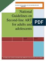 11. Second Line ART Guidelines April 2011