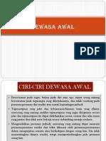Ppt Dewasa Awal, Madya, Akhir