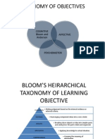 Taxonomy of Objectives