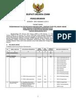 Pengumuman Pendaftaran CPNSD MUARAENIM PenempatanFINAL 2