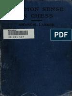 Common Sense in Chess - Lasker