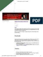 Digital Marketing in India 2013 - Simplify360