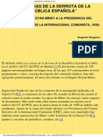 Las causas de la derrota de la República Española