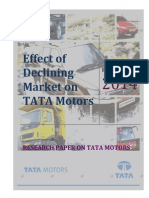 Effect of Declining Market on TATA Motors