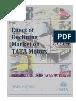 Effect of Declining Market on TATA Motors