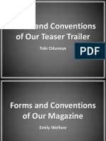Forms and Conventions of Our Teaser Trailer Evaluation
