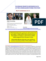 FACEBOOK PROFITS AND REVENUES (2009-2013) AND THE IDEA OF A WORK FUNCTION