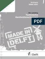 BSc Technische Aardwetenschappen Studiegids TU Delft 2006-2007
