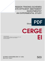Van Koten_ 2014_ Do Emission Trading Schemes Facilitate Efficient Abatement Investments CERGE WP