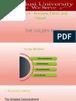 The Golden Rule - Presentation