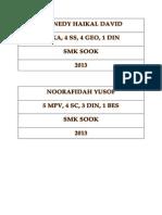 Detail Buku Rekod Mengajar 2013