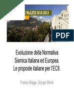 Evoluzione Della Normativa Sismica Italiana Ed Europea Monti Braga