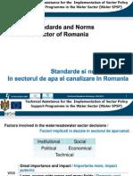 Prezentare Standarde Si Norme Tehnice in Sectorul de Apa Si Canalizare in Romania