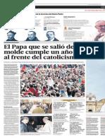 El Papa que se salió del molde cumple un año al frente del catolicismo