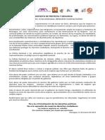 Manifiesto de Protesta - Nicaragua