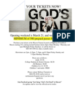 God's Not Dead Flyer
