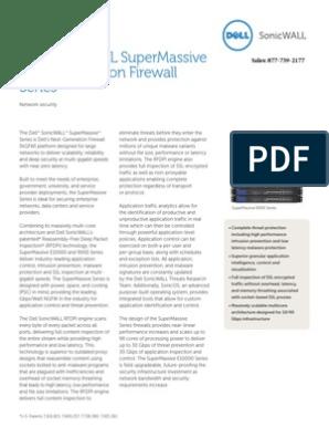 Dell Sonicwall Supermassive Next-Generation Firewall Series