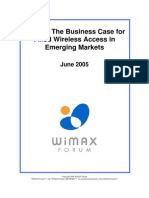Wimax-Business Case for Emerging Mkts