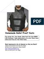 Homemade Bullet Proof Vests