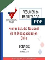 Resumen de Resultados Primer Estudio Nacional Sobre Discapacidad Endisc 2005 Chile
