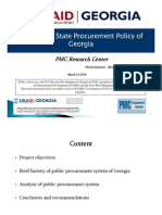 Analysis of the State Procurement Policy of Georgia