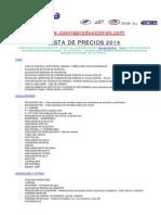Precios 2014