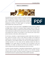 Project on Commodity Market