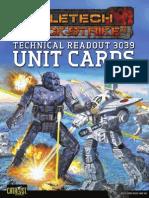 Battletech Quickstrike Alpha Strike Cards - 35661-Q-S Cards TRO 3039