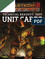 Battletech Quickstrike Alpha Strike 35QS002-3055 Unit Cards