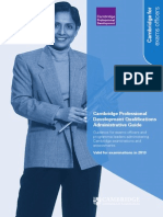 Cambridge Professional Development Qualifications Administrative Guide