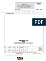SL420-0000-SP-PI-1002_D3 Spec for the Procurement of Valves