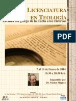 Curso Licenciatura en Teología