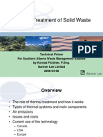 thermal treatment of solid waste