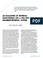 Blair and Maron - 1985 - An Evaluation of Retrieval Effectiveness for a Full-Text Document-Retrieval System