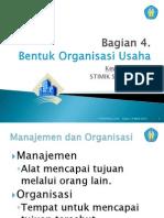 Bagian 4 Bentuk Organisasi Usaha