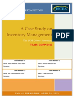 A Case Study on Inventory Management