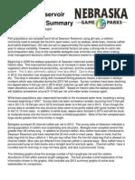 Nebraska Game and Parks - Swanson 2013 Survey Summary Handout