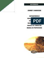 Defender V8i & 300 Tdi MY98 - Manual Del Conductor