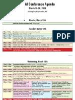 NCIAI Conference Agenda
