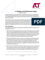 Planning for Variation and E-Discovery Costs