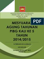 Buku Mesyuarat Agung Tahunan PIBG Kali Kelima SKPP 18(1) 2014