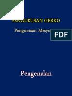 Pengurusan Mesyuarat - Pengurusan Gerko