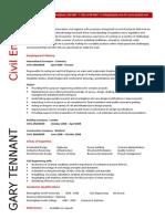 Civil Engineering CV 5