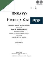 ENSAYO DE LA HISTORIA CIVEL DEL PARAGUAY - GREGORIO FUNES - TOMO PRIMERO - PORTALGUARANI