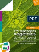 ACTES des 1ères rencontres du végétal