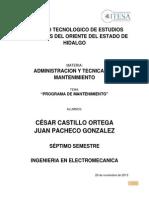 PROGRAMA DE MANTENIMIENTO, LAB. ELECTROMECANICA.docx