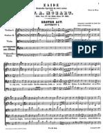 Zaide Act I - Mozart
