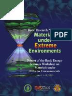 Materials Under Extreme Environments Seminar
