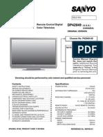 Sanyo DP42849 -00 (LCD) Service Manual